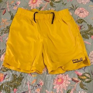 Boys Polo Ralph Lauren Shorts, yellow, size S(8).